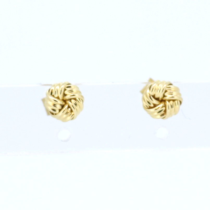 Small Gold Knot Earrings