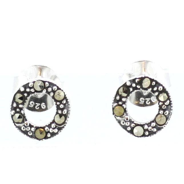 Marcasite Circle Earrings
