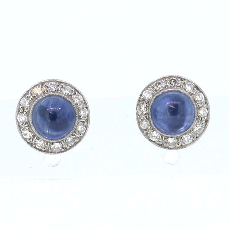 Diamond and Sapphire Stud Earrings