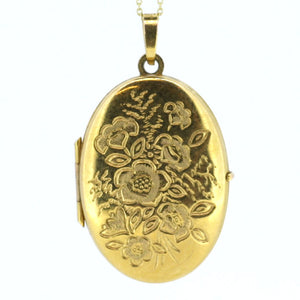 Gold Rose Locket