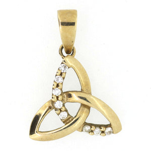 Diamond and Gold Celtic Pendant