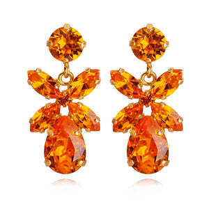 Mini Dione Earrings, Tangerine