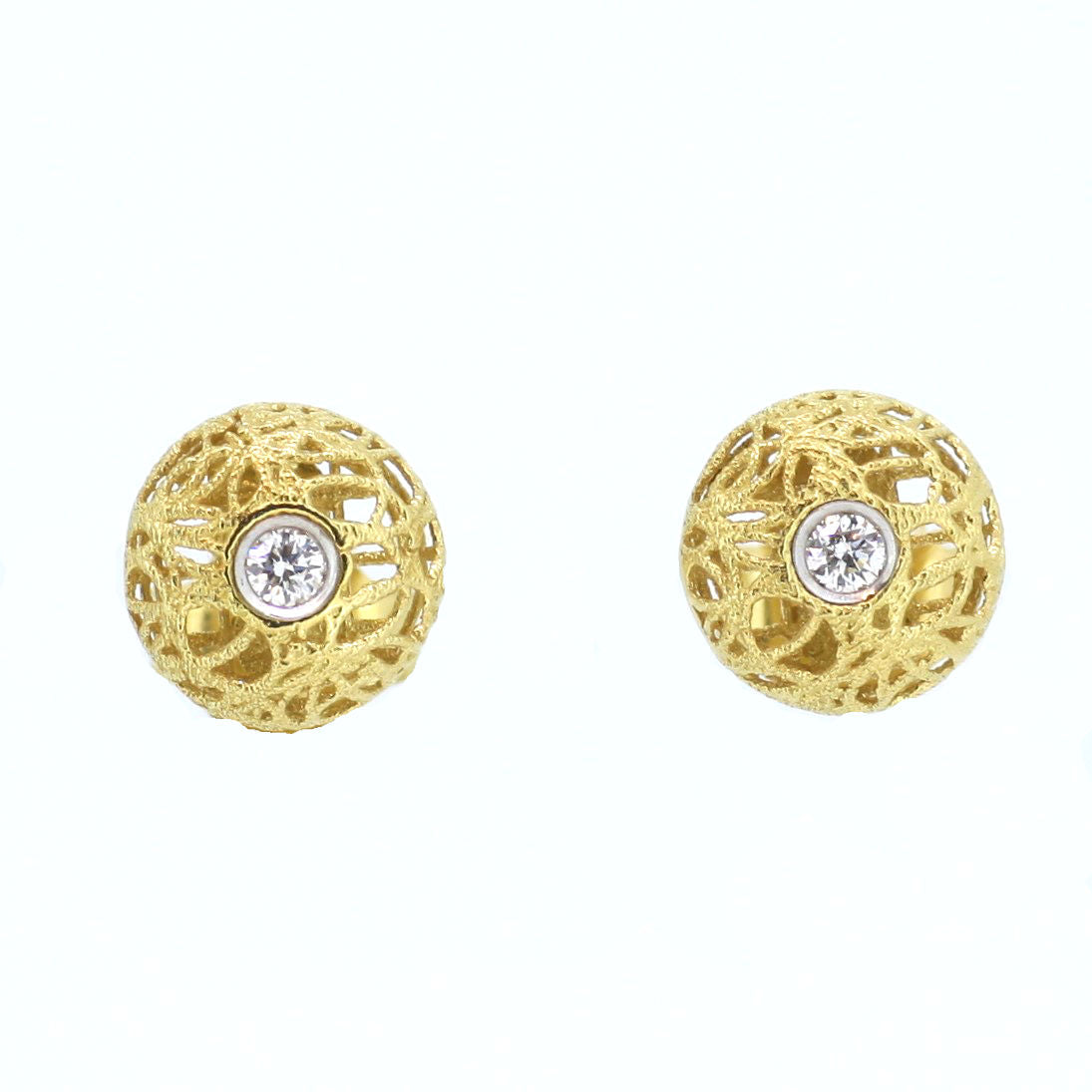 Italian Gold & Diamond Studs