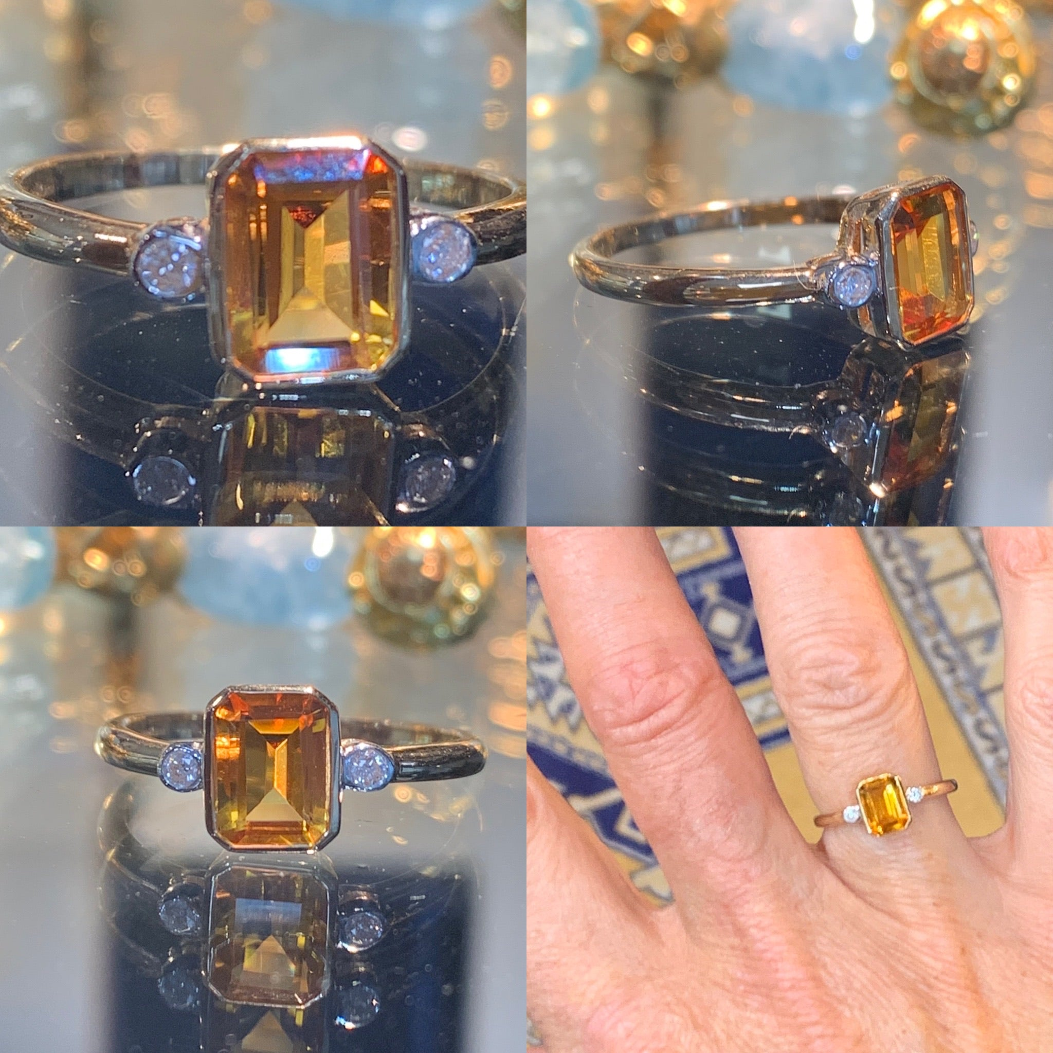 Citrine on Gold
