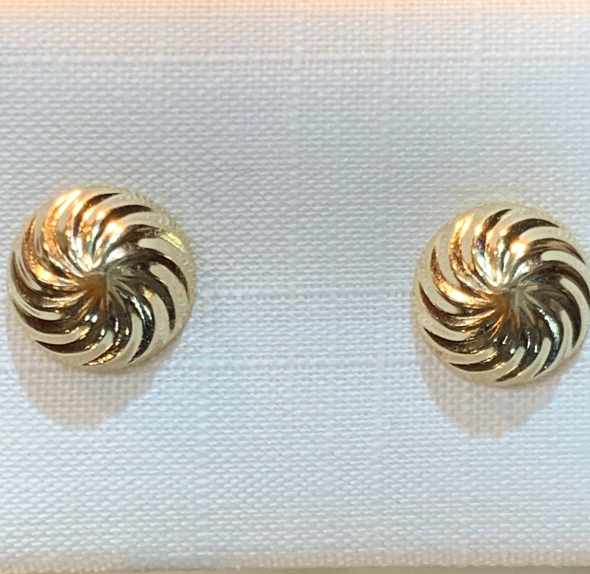 Carved Gold Swirl Studs 7
