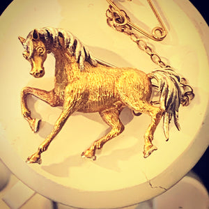 Antique Horse Brooch