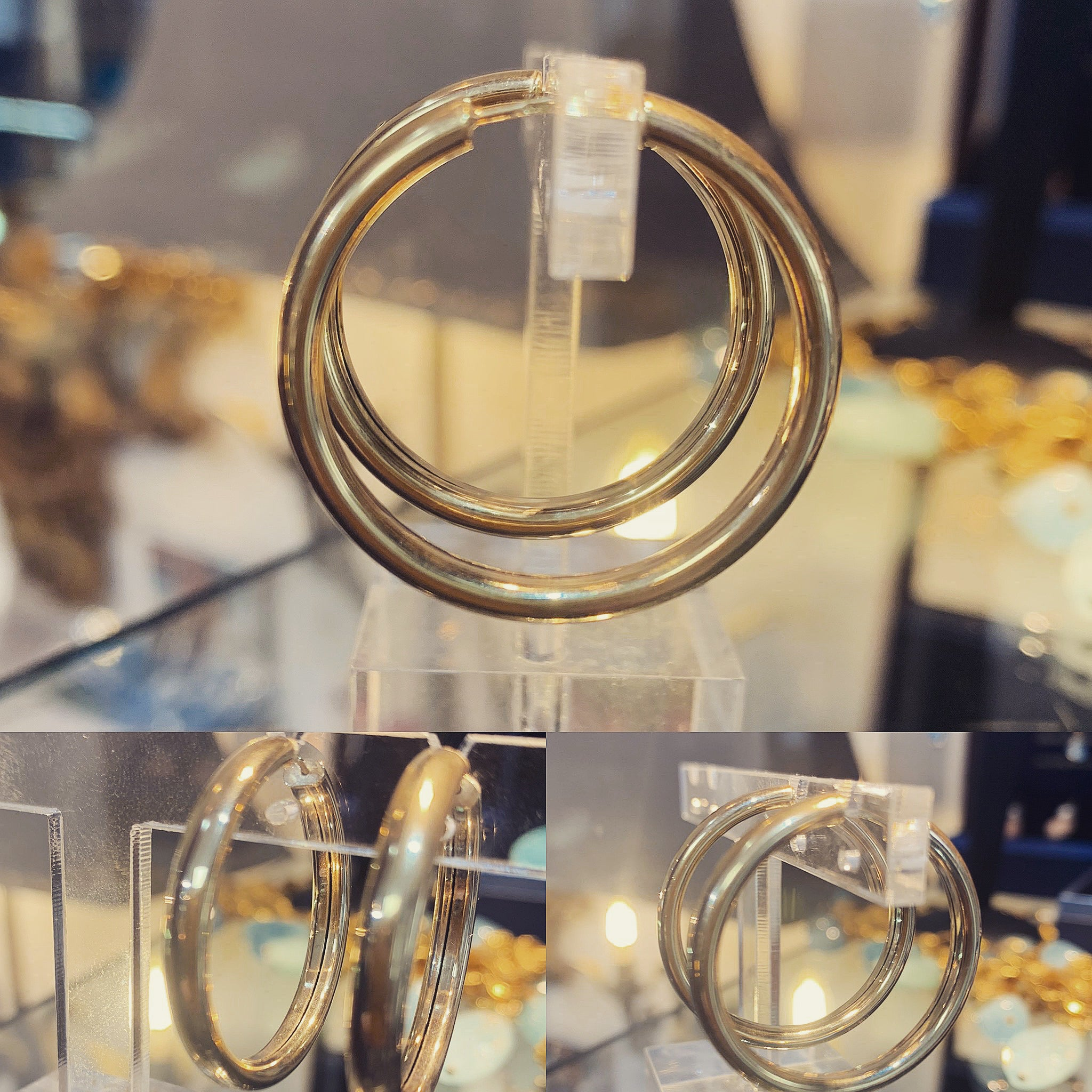 Gold Hoops 30mm