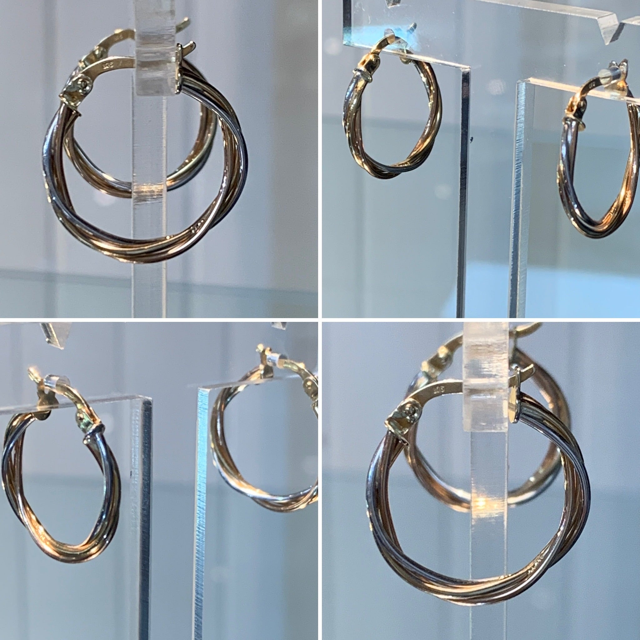 Twisted 2 colour Gold Hoops 2