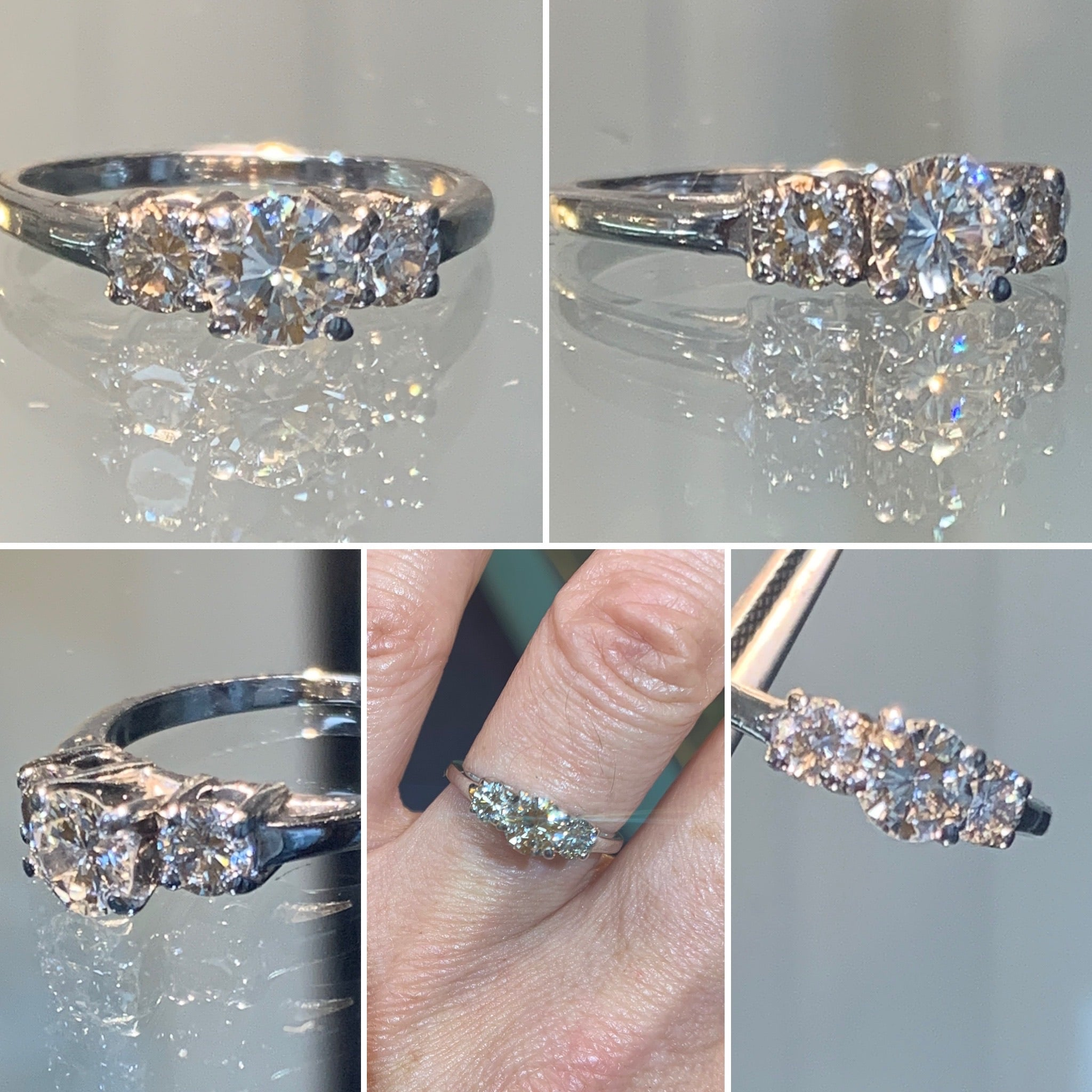 Vintage Trilogy Diamond Ring  1.10