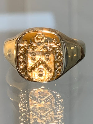 Crested Signet Ring Custom Made