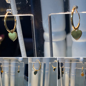 Gold Heart Sleeper Earrings