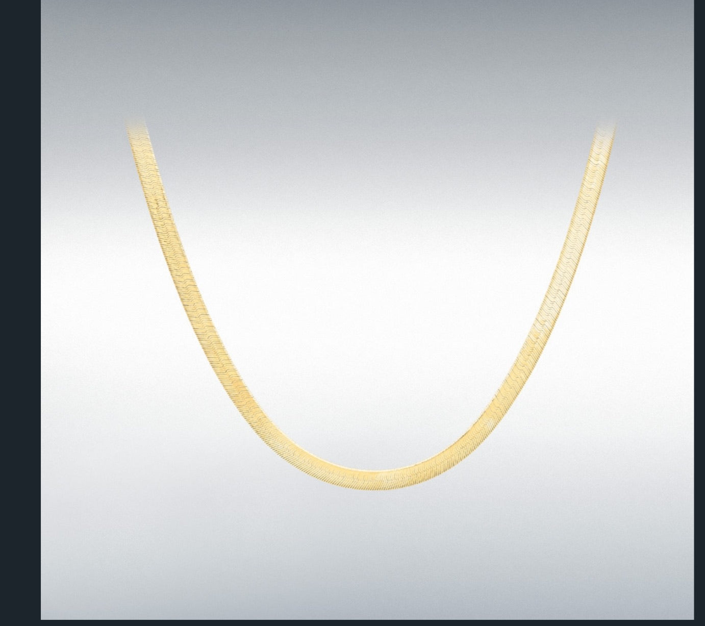 Flat Herringbone Gold Chain
