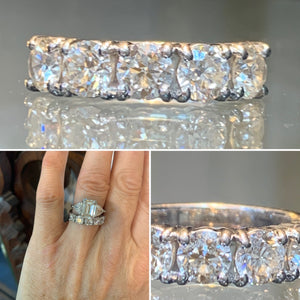 Five Stone Ring 1.54 carats