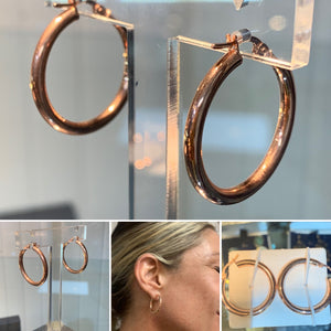 Creole Rose Gold Hoop Earrings