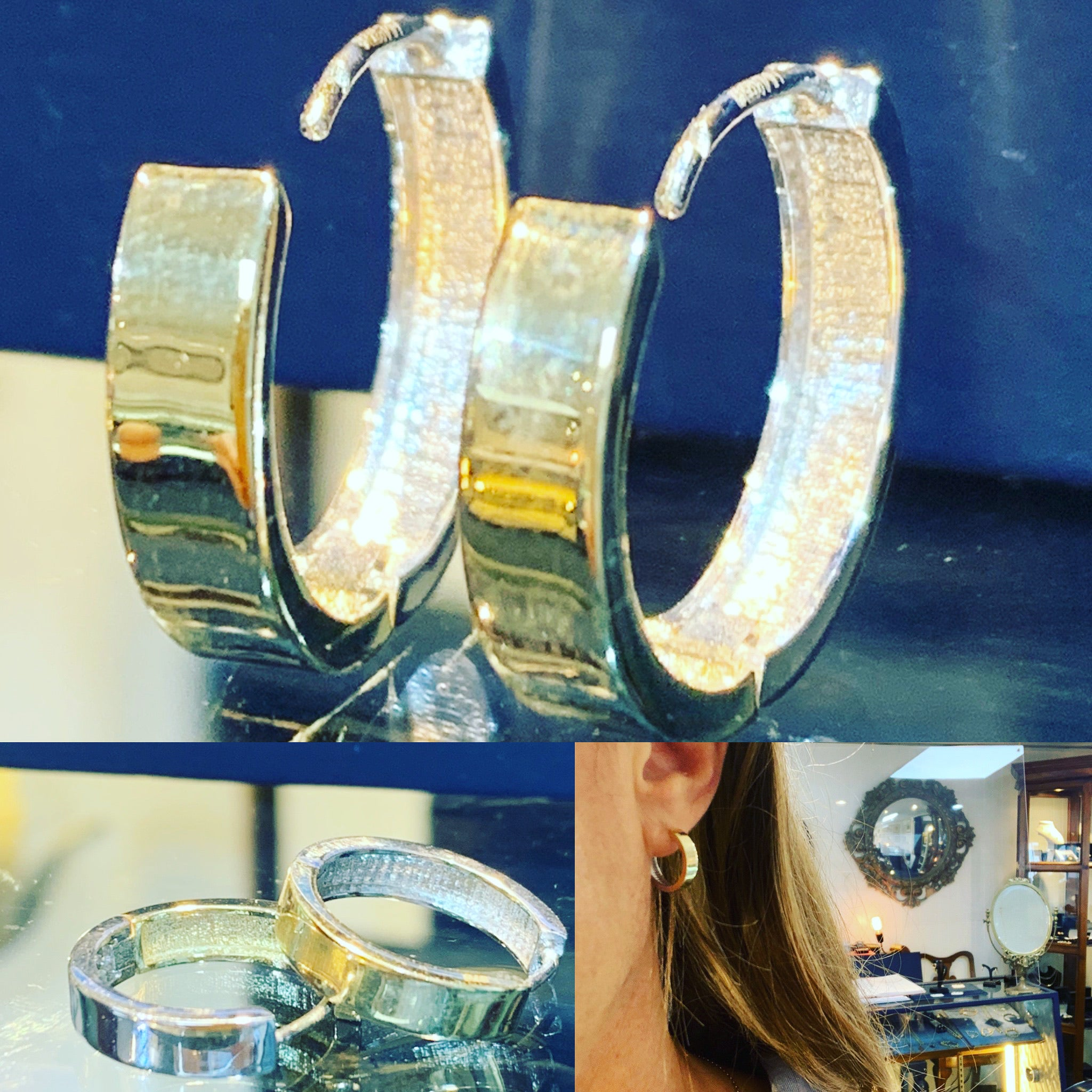 Reversible Gold Hoops