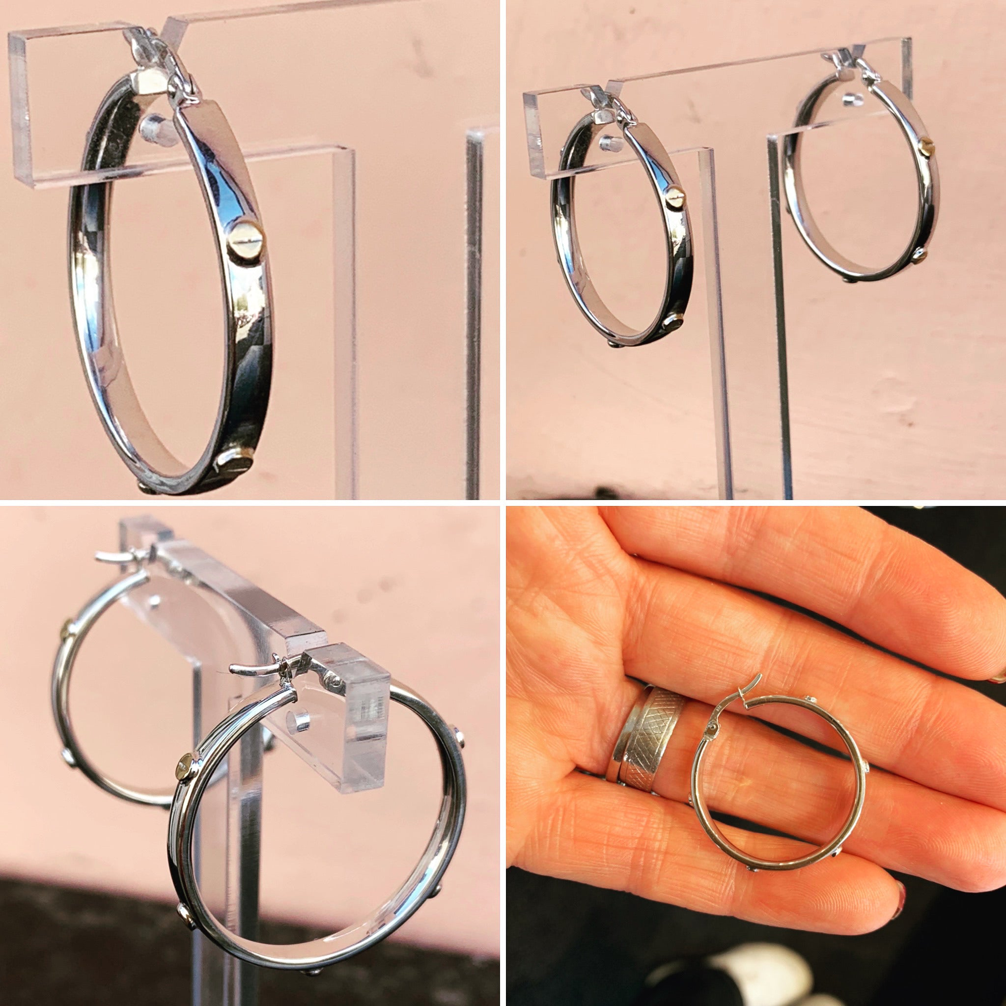 Cartier Style Hoops