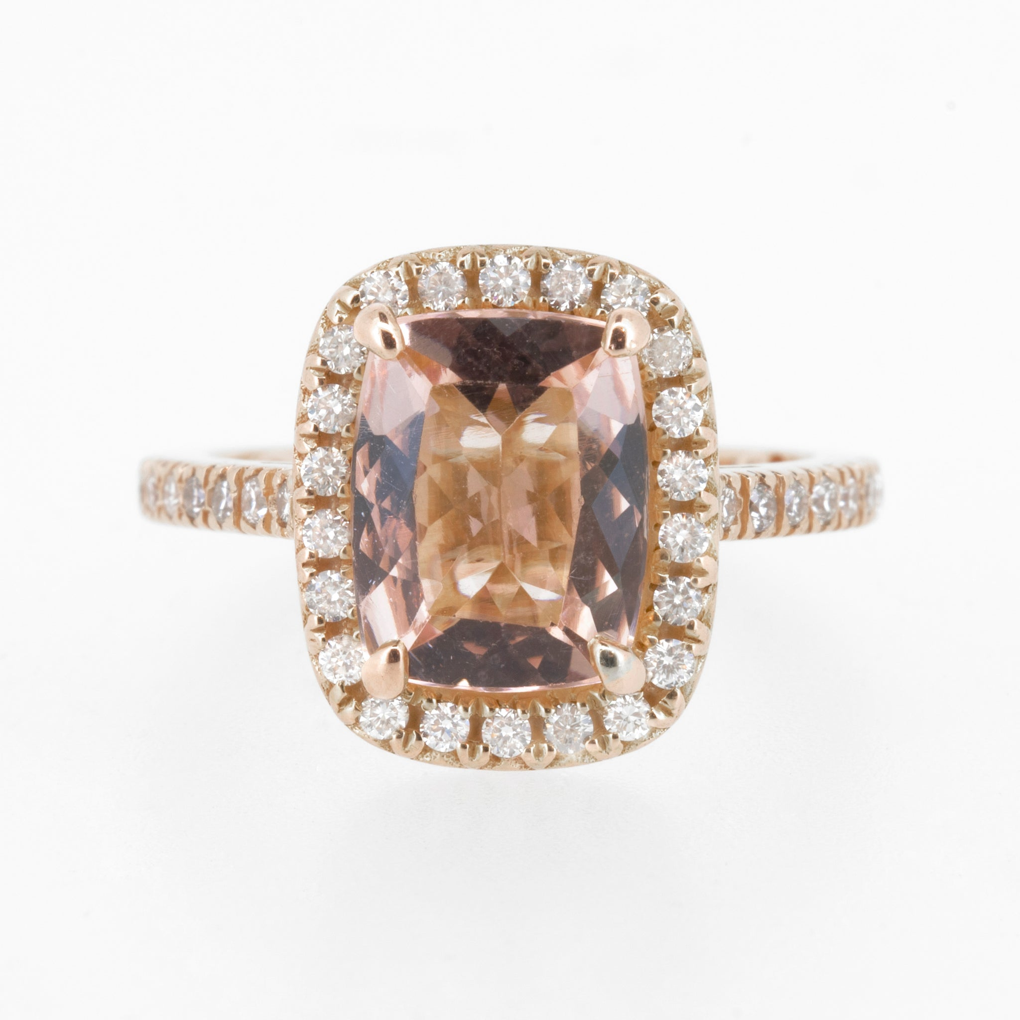 Morganite Cushion Cut