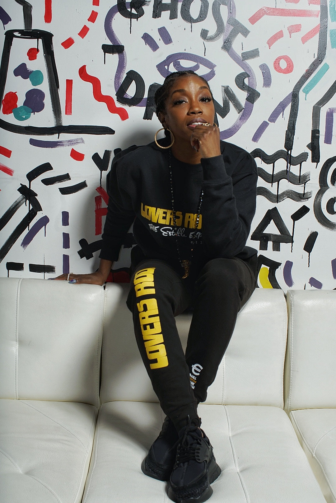 """Lovers Rock"" Unisex Crewneck Sweatsuit Set"