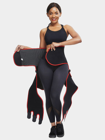 Pre Order-2 In 1 Ultra Sweat Waist and Thigh Trimmer | Godress Booty Sculptor