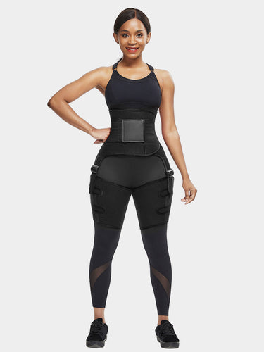 Pre Order-2 In 1 Ultra Sweat Waist and Thigh Trimmer | Godress Booty Sculptor - godress