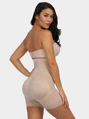 Godress High Waist Shaping Shorts With Front Hooks - godress