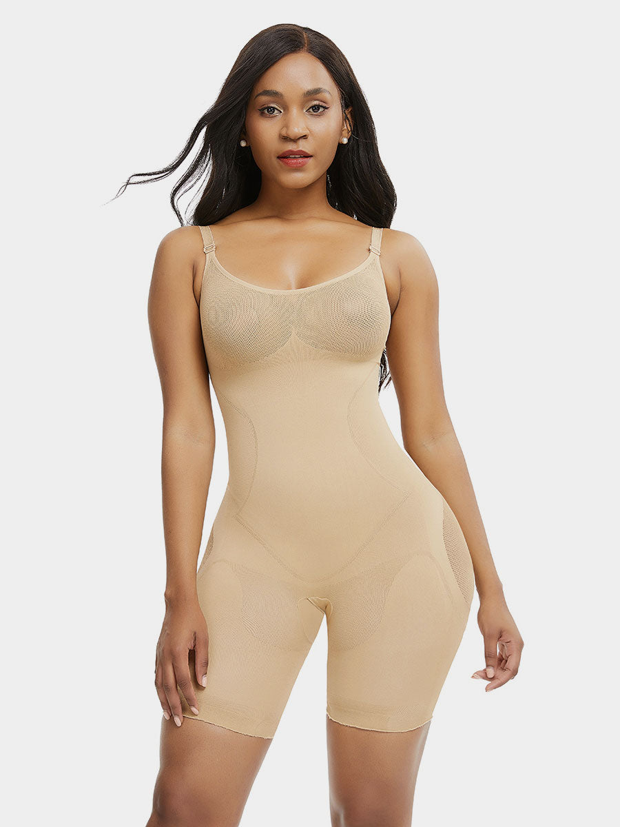 Godress Medium Leg Preshaped Control Bodysuit - godress