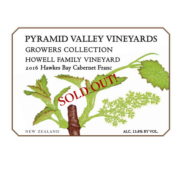 SOLD OUT 2016 Howell Hawke's Bay Cabernet Franc 6-pack