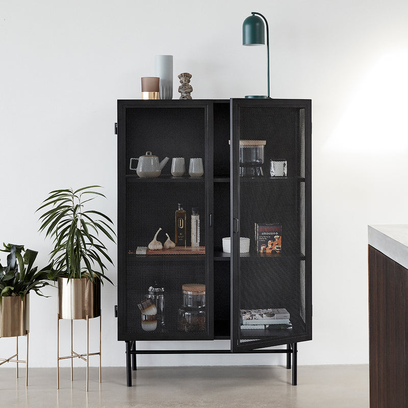 Double Door Iron Mesh Cabinet | Design Vintage