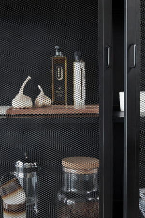Single Door Iron Mesh Cabinet