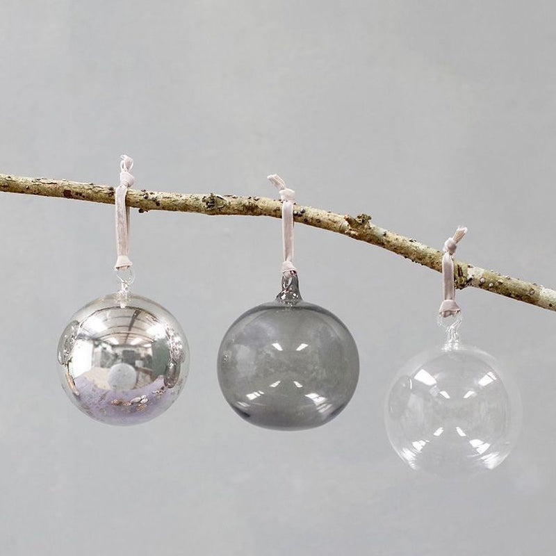Set of 3 Tikari Glass Ball Bauble