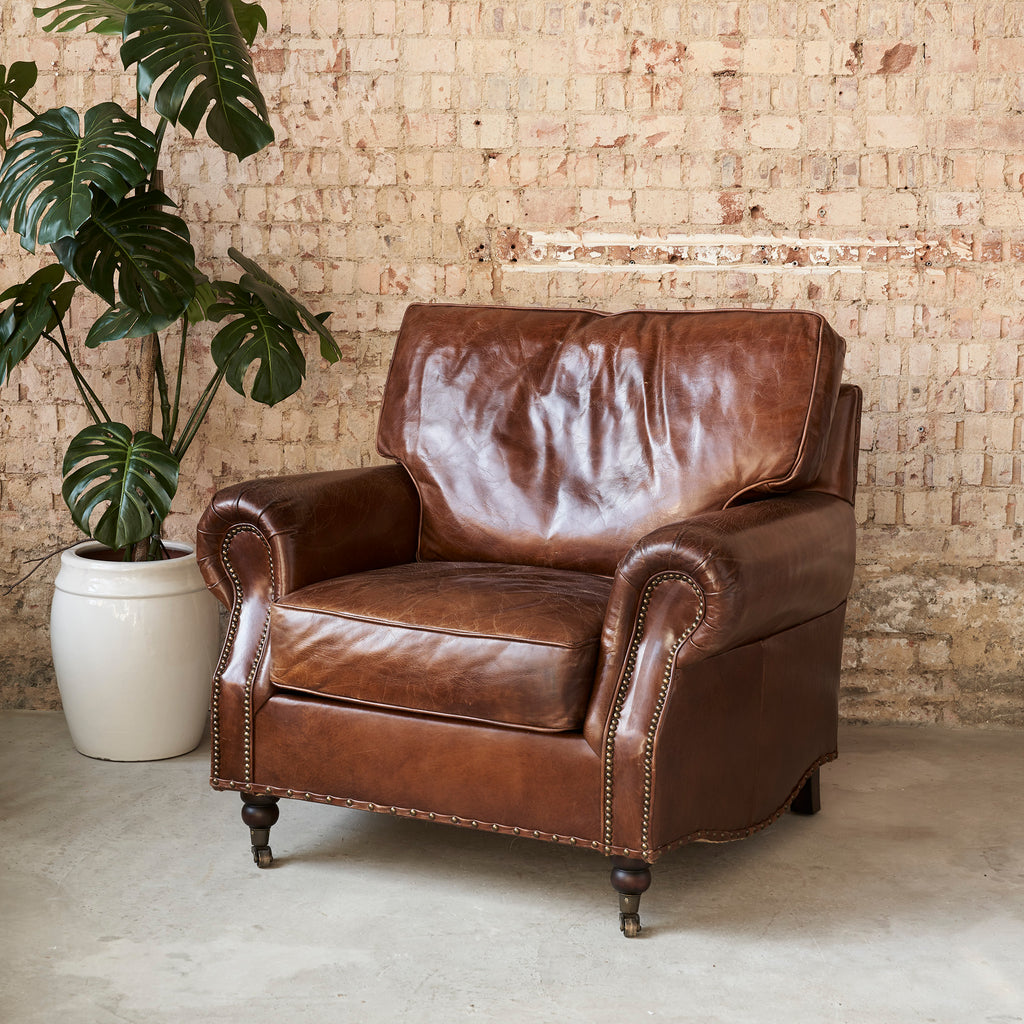 Elegant Leather Armchair