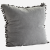 Large Grey Tassel Cushion
