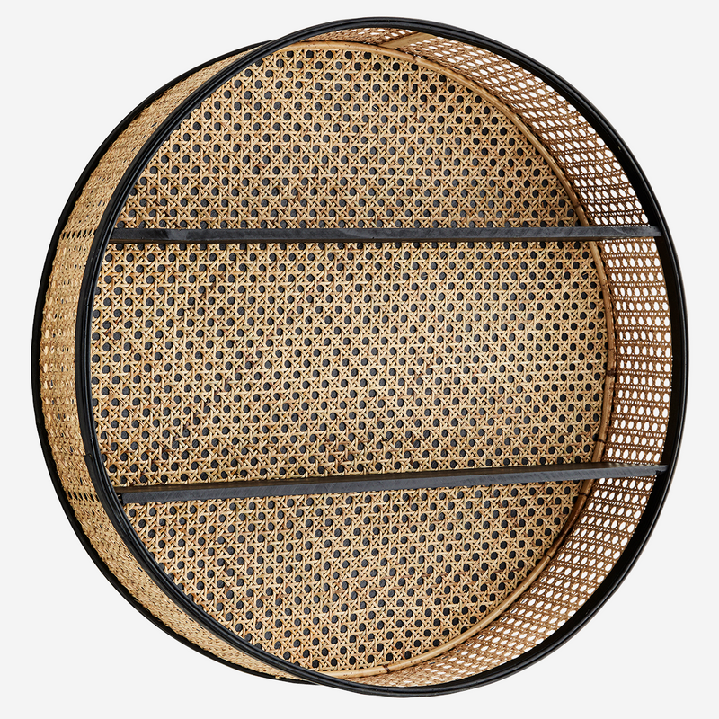 Round Rattan Shelf | Design Vintage
