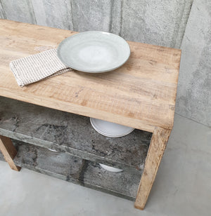 Recycled Wood & Zinc Kitchen Island | Design Vintage
