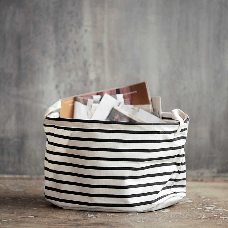 Wide Striped Storage Bag