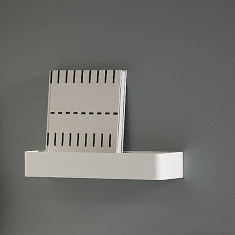 Single Metal Shelf in White