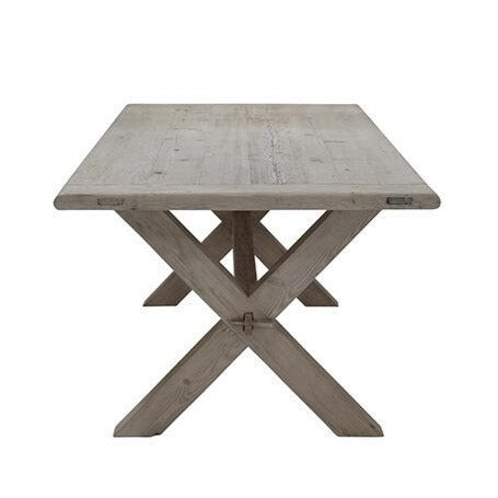 Vintage Raw Wood Dining Table