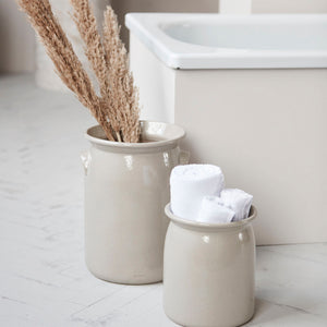 Shell Grey Ceramic Jar