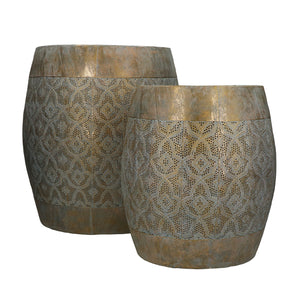 Set of Tarifa Metal Stools