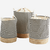 Set of Straw Base Baskets | Design Vintage
