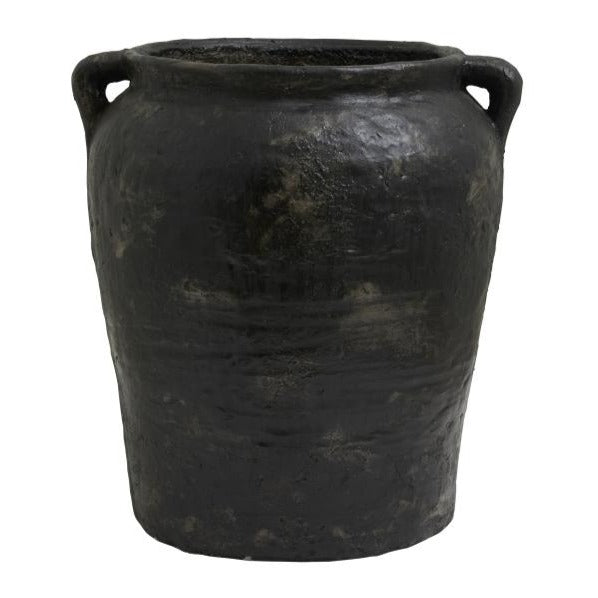 Cema Black Concrete Planter