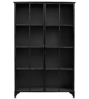 Black Iron Wide Cabinet
