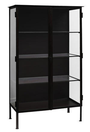 Black Iron & Glass Cabinet | Design Vintage