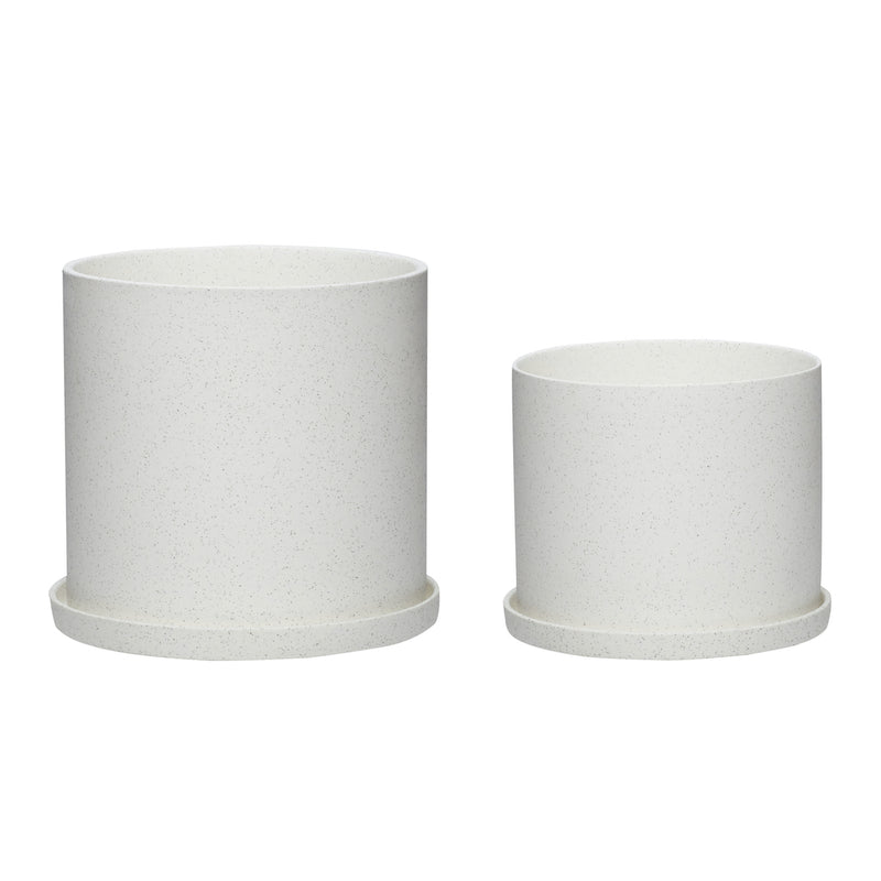 Set of White Plant Pots