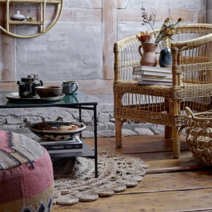 Decorative Round Jute Rug