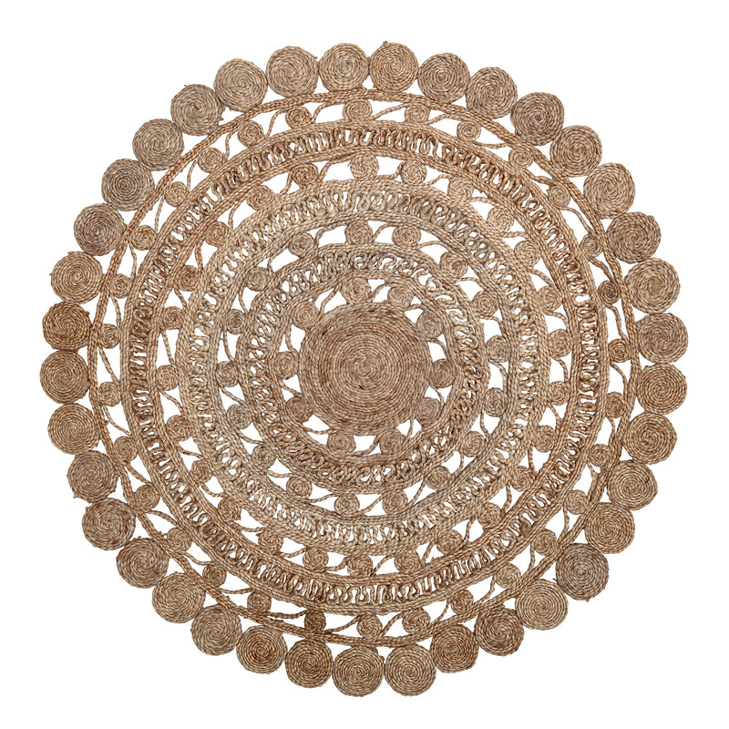 Decorative Round Jute Rug | Design Vintage