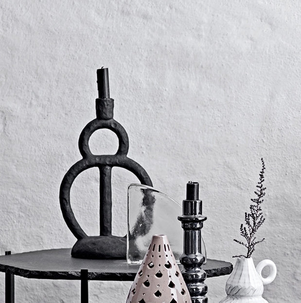 Black Sculptural Candlestick | Design Vintage