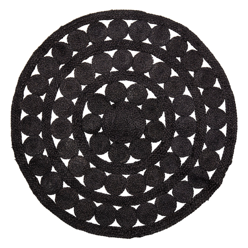Decorative Black Jute Rug