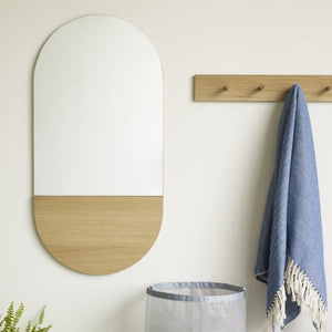 Simple Oak Wall Mirror
