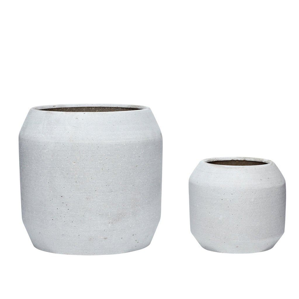 Grey Ceramic Planters | Design Vintage